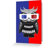 Owl - 3D Glasses Greeting Card