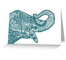 Elephant in Turquoise  Greeting Card