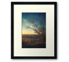 Beautiful Autumn Sunset Color Landscape Framed Print