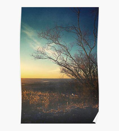 Beautiful Autumn Sunset Color Landscape Poster