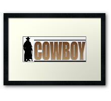 Cowboy Silhouette Framed Print