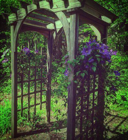 Purple Flower Archway Sticker