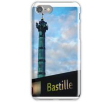 Bastille Monument and Metro Sign iPhone Case/Skin