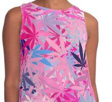 Marijuana Cannabis Weed Pot Island Colors Contrast Tank