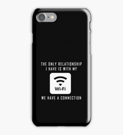 Single Pun Joke Funny Wifi Joke Graphic Humor  iPhone Case/Skin