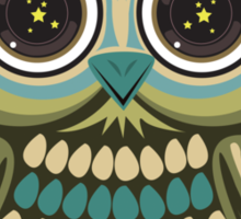 Star Eye Owl - Green 2 Sticker