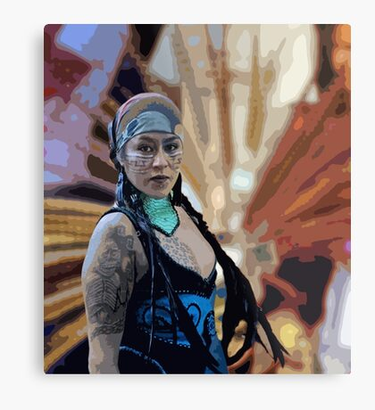 WARRIOR PRINCESS Metal Print