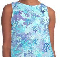 Marijuana Cannabis Weed Pot Cool Breeze Contrast Tank