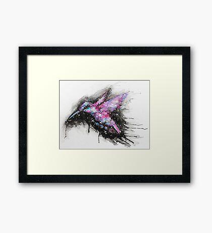 Cosmic Hummingbird - The Universe Hums Framed Print