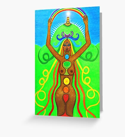 Avalon Rainbow Goddess Greeting Card