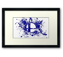 Super Smash Brothers logo Framed Print