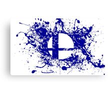 Super Smash Brothers logo Canvas Print