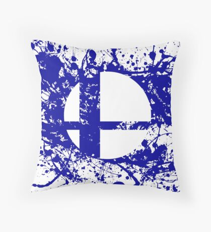 Super Smash Brothers logo Throw Pillow