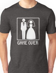 GAME OVER Funny Bachelor Party Wedding Groomsman T-Shirt Tee Unisex T-Shirt