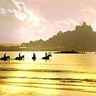 Horses and Swimmers at St Michael's Mount by George Crawford