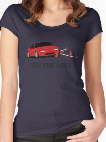 Hit The Apex Women's Fitted Scoop T-Shirt