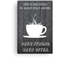 Simplistic Coffee Decal Canvas Print