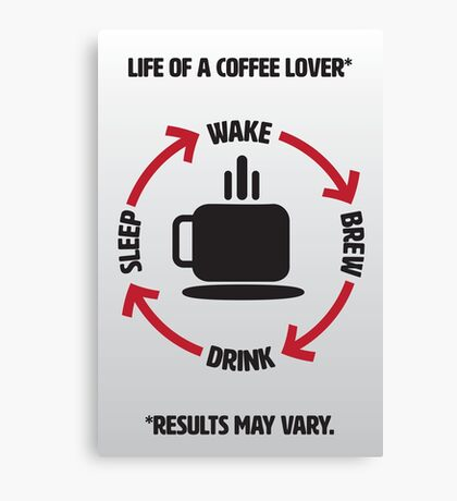 Coffee Lover Infographic Canvas Print