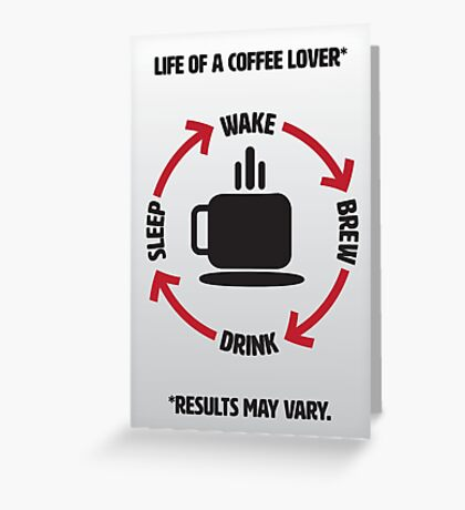 Coffee Lover Infographic Greeting Card