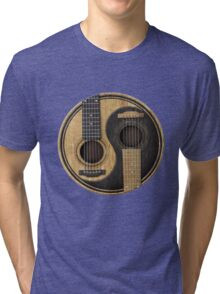 Bass Guitar T Shirt - Music Pulse, Notes, Clef, Frequency, Wave, Sound, Dance Tri-blend T-Shirt