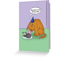 Blind Dog Birthday Greeting Card