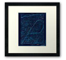 USGS TOPO Map California CA Big Trees 299218 1901 125000 geo Inverted Framed Print