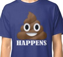 Shit Happens Poop Emoji T-shirt Funny Face Emoticon T-Shirt Classic T-Shirt