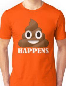 Shit Happens Poop Emoji T-shirt Funny Face Emoticon T-Shirt Unisex T-Shirt