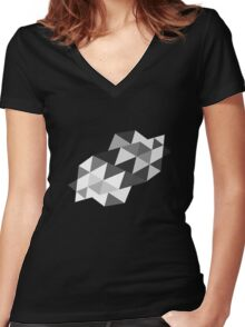 Color Triangle  Women's Fitted V-Neck T-Shirt