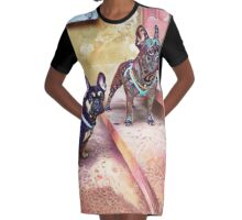 Byron & Louis Storming the Castle Graphic T-Shirt Dress