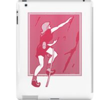 Rock Climbing Woman Abstract iPad Case/Skin