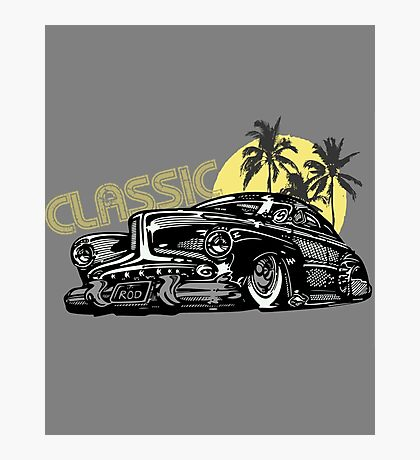 Classic Old School Cars Photographic Print