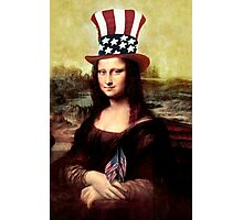 Patriotic Mona Lisa Photographic Print