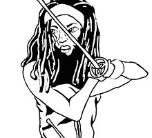 Michonne - B & W by morganajones