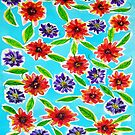 Bright Flowers by marlene veronique holdsworth
