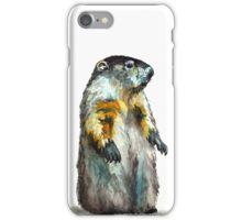 Winter Woodchuck (aka Groundhog) iPhone Case/Skin