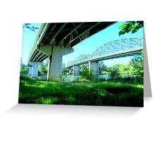 Trestle And Bridge. Corvallis, Oregon Greeting Card