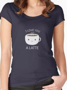 Funny and Kawaii Coffee Pun  Women's Fitted Scoop T-Shirt