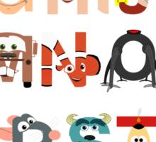 Pixar Alphabet Sticker