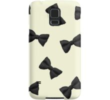 Scattered Bow Ties- Black Samsung Galaxy Case/Skin