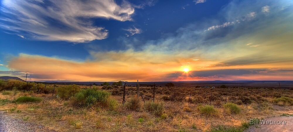 Smoky Sunset by Bill Wetmore