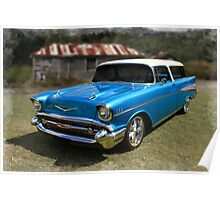 57 Chevy Wagon Poster