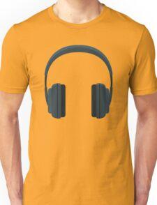 Black Hearphones Unisex T-Shirt