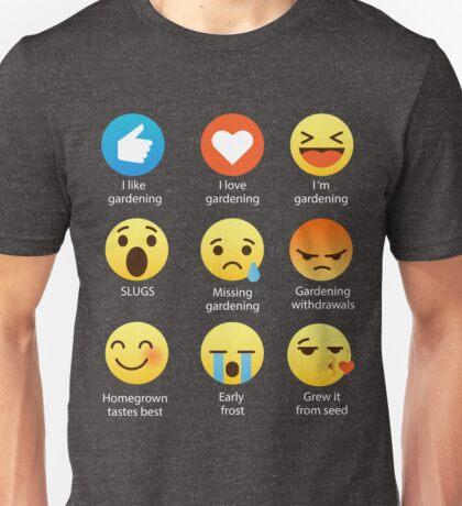 I Love Gardening Gardeners Off Grid Funny Emoji Emoticon Graphic Tee Shirt  Unisex T-Shirt