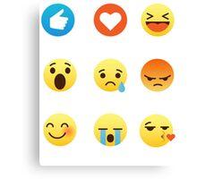 I Love Gardening Gardeners Off Grid Funny Emoji Emoticon Graphic Tee Shirt  Canvas Print