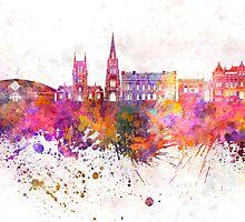 Blackburn skyline in watercolor background by paulrommer