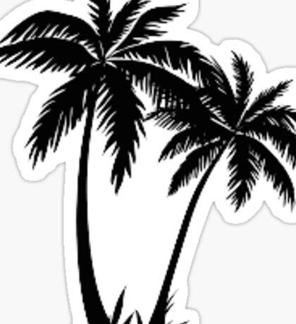 Palm Tree Drawing Sticker