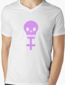Feminist skull Mens V-Neck T-Shirt