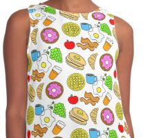 Colorful Breakfast Foods Contrast Tank