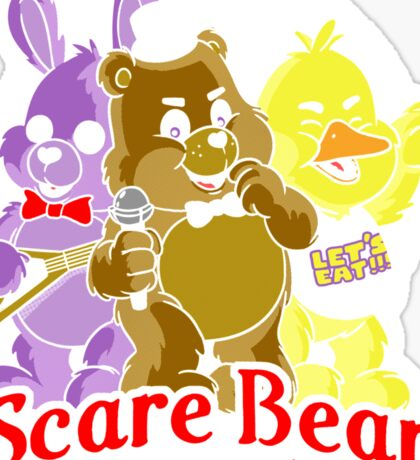 Freddy scare bear Sticker